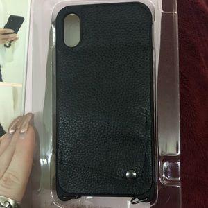 Crossbody IPhone XR wallet phone case